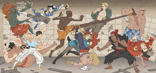 'Battle of the Bath House', who might be first in the tub?! Street Fighter