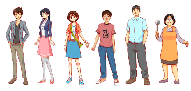 Easy Japanese Main Characters